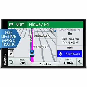"""Garmin DriveSmart 61 NA LMT-S GPS Navigation w/ Smart Features & 6.95"""" Screen"""