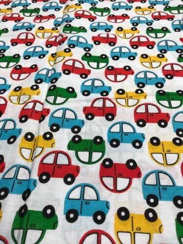 Nouveauté CARS VOITURE Crafts Remnant Tissu matériau à coudre pièce 130x100cm