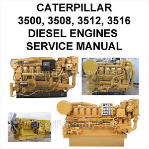 caterpillar 3500 3508 3512 3516 diesel engines generator service rh ebay com caterpillar 3512b service manual download cat 3512c service manual
