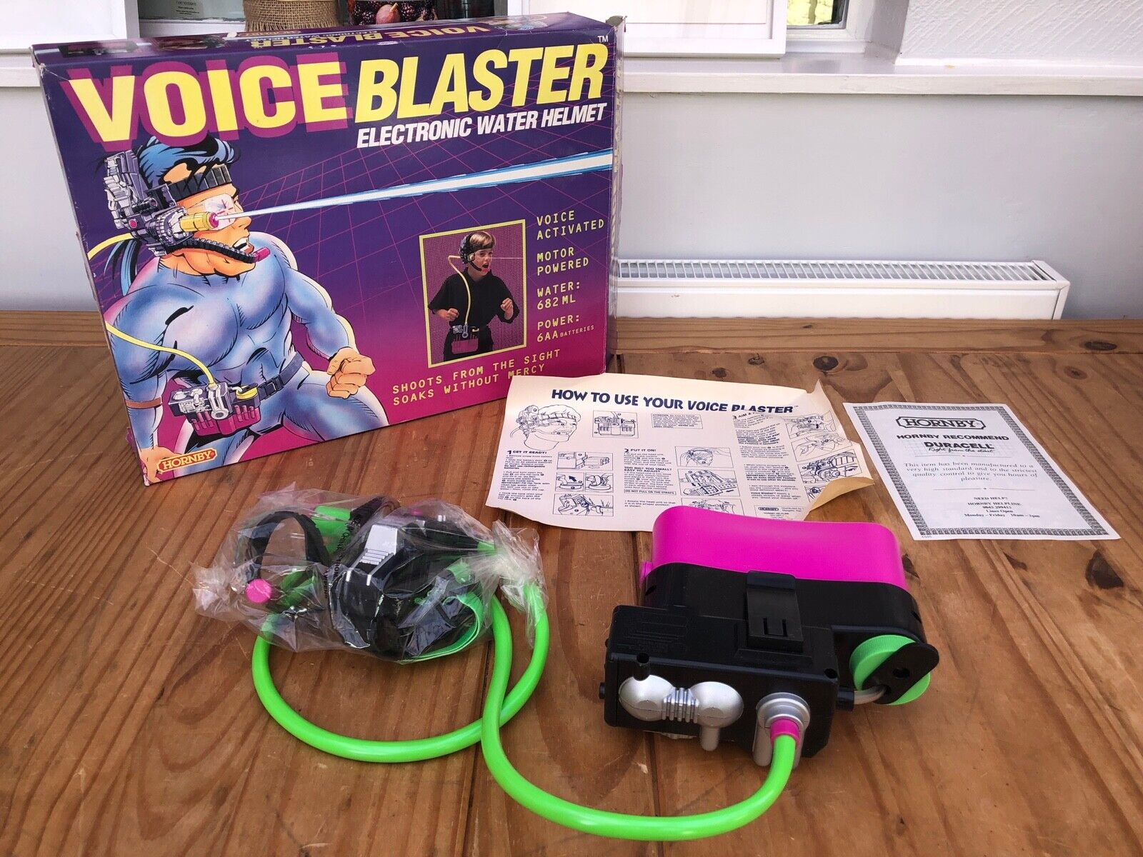 VERY RARE VINTAGE Hornby Voice Blaster - Electronic Water Helmet Sealed Contents