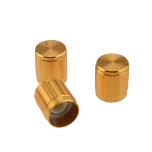 40Pcs Aluminum Alloy Potentiometer Knobs Switch Caps for 6mm Dia Shaft Encoder