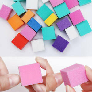 Image Is Loading Nail Buffer Files Colorful Mini Irregular Sanding Sponge