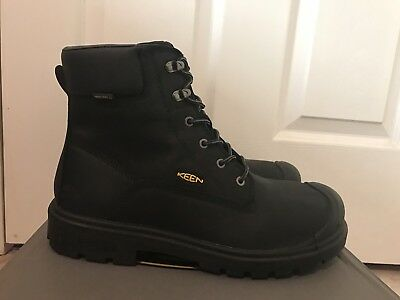 Waterproof Steel Toe Black Leather