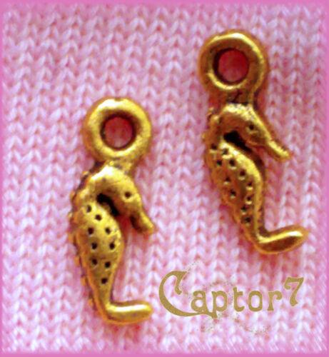 10 CHARMS IPPOCAMPO color OTTONE CAVALLUCCIO MARINO CIONDOLO PENDENTE MARE