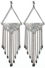 FRINGE BENEFITS EDIE SEDGWICK INSPIRED    EARRINGS  by  STEVE SASCO
