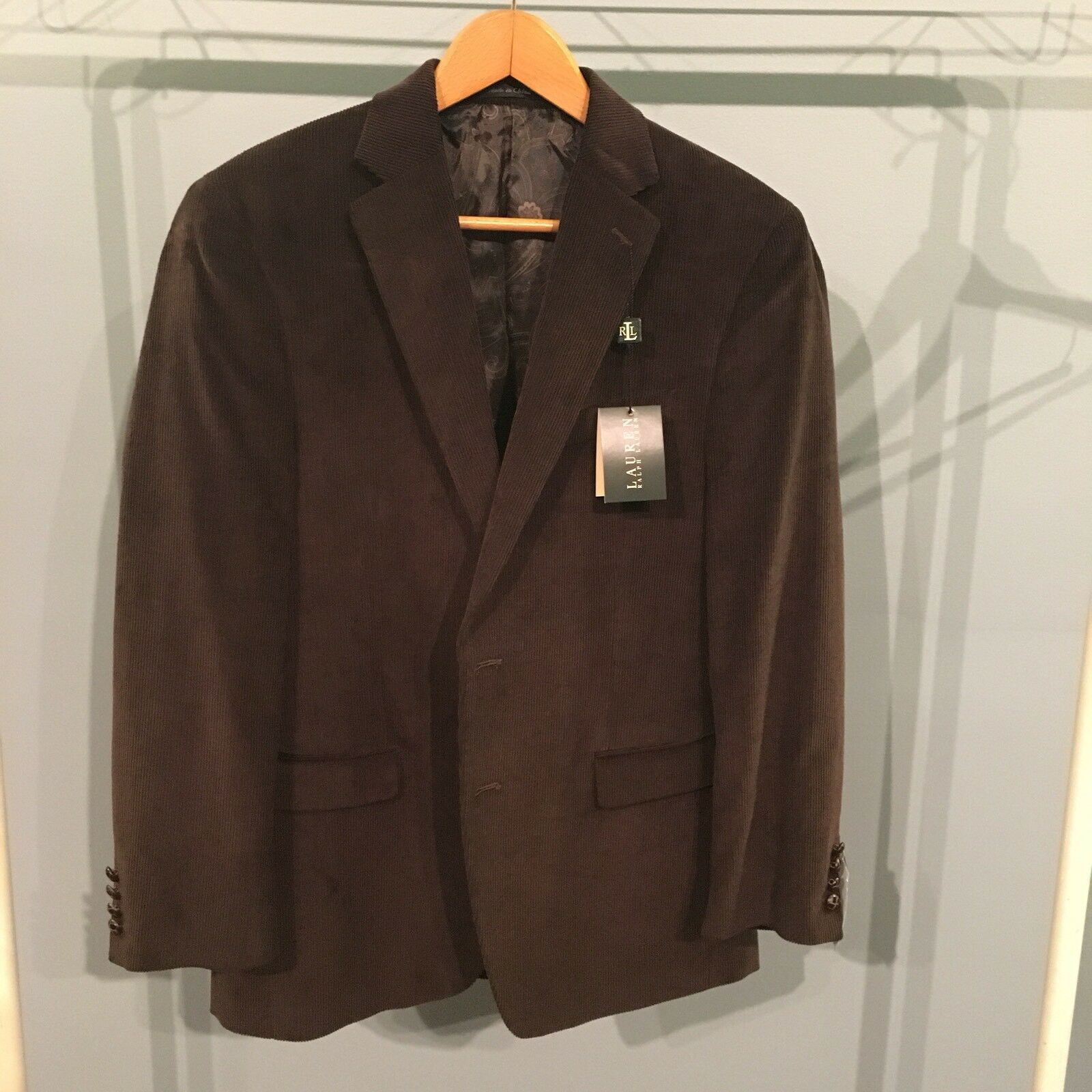 Ralph Lauren Polo Corduroy Blazer Sport Coat Brown 40R NEW WITH TAGS MENS
