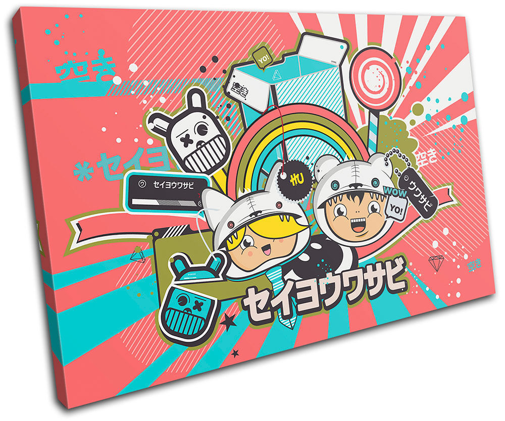 Japanese impresion Cartoon  Illustration SINGLE LONA pared arte Foto impresion Japanese e74b93