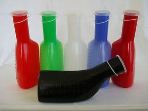 Jägerduck die Farbige-Urinflasche in Blau mit weißer Beschriftung