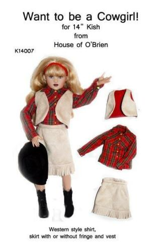 """K14008 Want to be a Cowgirl for 14/"""" Chrysalis Kish"""