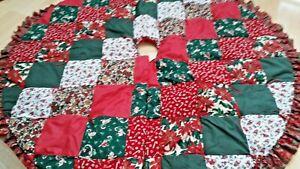 Vintage Handmade Quilted Patchwork Christmas Tree Skirt 52 Holiday Santa Xmas Ebay