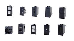 PRESE-INTERRUTTORI-SCHUKO-PULSANTE-USB-COMPATIBILE-BTICINO-LIVING-LIGHT-SPINA-IN