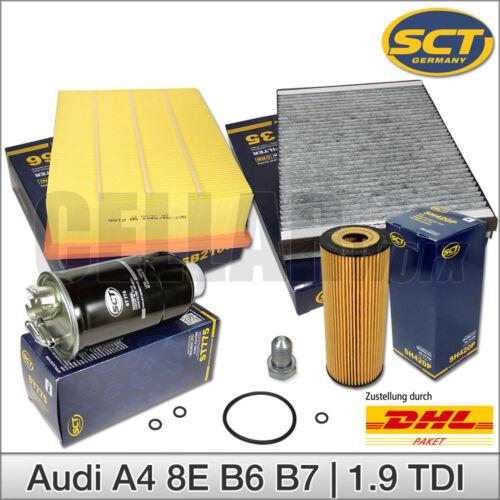 Audi a4 8e b6 b7 1.9 TDI paquete de inspección filtro Filterset Filtro de conjunto de paquete
