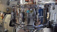 Ludwig Supraphonic Chrome Snare Drum LM402B 6.5X14 New Made in USA Bonham Sound