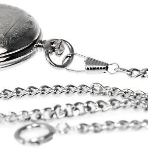 UHRKETTE-Taschenuhrkette-Kette-Uhr-Panzerkette-Karabiner-Federring-Taschenuhr