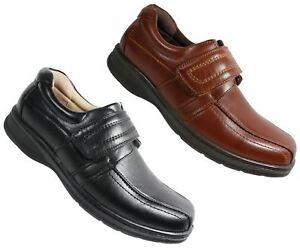 Léger Chaussures Homme Fermeture Noir Tactile Uk Foncé Confort Travail S359 wUAYqSxA