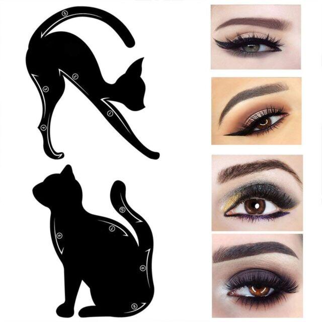 2pcs Cat Line Eye Makeup Tool Eyeliner Eyeshadow Stencils Template