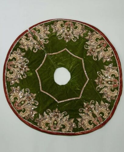 """Katherine/'s Collection Spiced Traditions Tree Skirt 54"""" NEW"""
