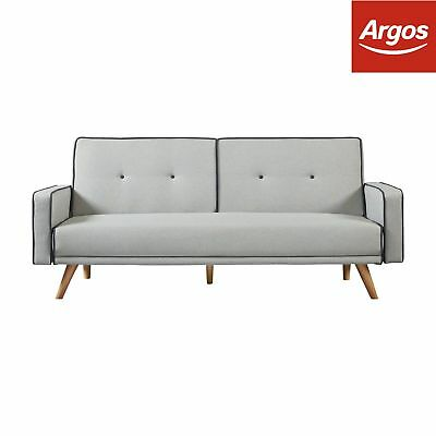 Argos Home Frankie 2 Seater Clic Clac Sofa Bed Grey