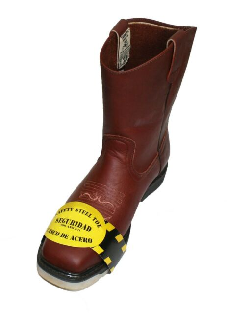 9970432615b Men's Best Work Boots Pull On Leather oil water slip resistant Steel Toe  Boots ~