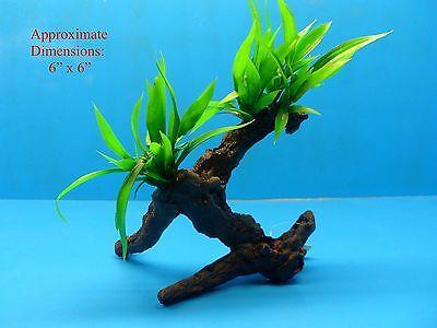 "AQUARIUM BRANCH PLASTIC PLANT W HEAVY BASE 1224172 6"" H x 6"" FRESH / SALTWATER"
