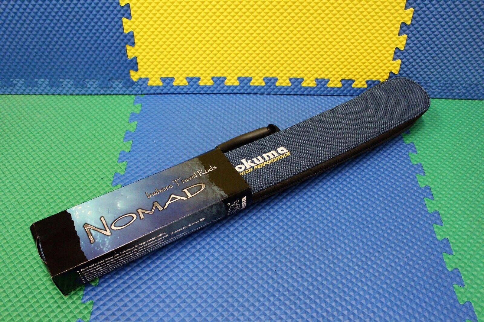 Okuma Nomad 7' 0  Inshore Travel Casting Rod With Case NTi-C-703M MH