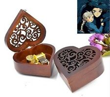 Heart Carving Wood Wind Up Music Box  : Merry Go Round of Life