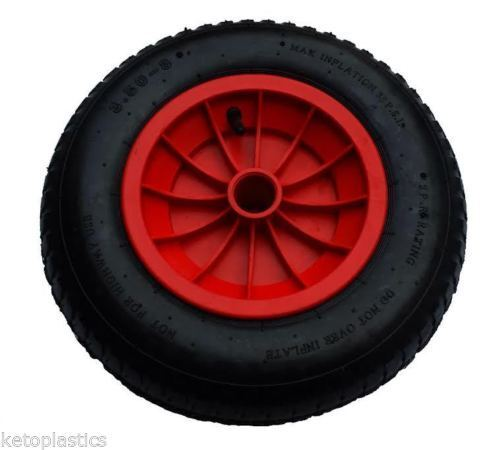 14 REPLACEMENT PUNCTURE PROOF WHEELBARROW WHEEL CHOOSE BORE SIZE 3.50/4.00-8