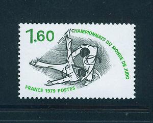 FRANCIA-FRANCE-1979-MNH-SC-1681-Judo-Championship
