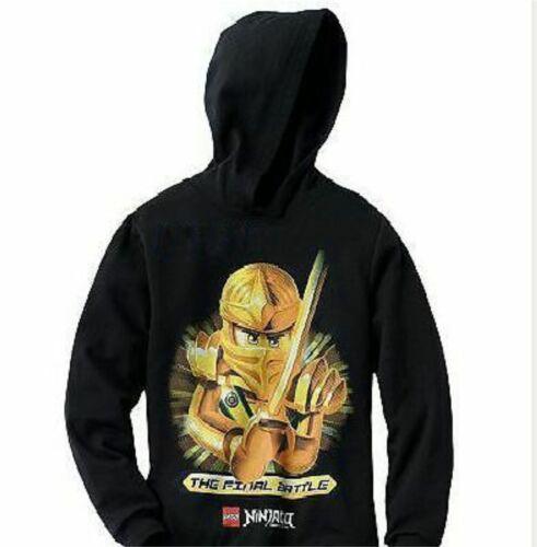 Lego Ninjago Gold Ninja Pullover Hoodie 8 M 14-16 XL 18-20 New Lloyd sweatshirt