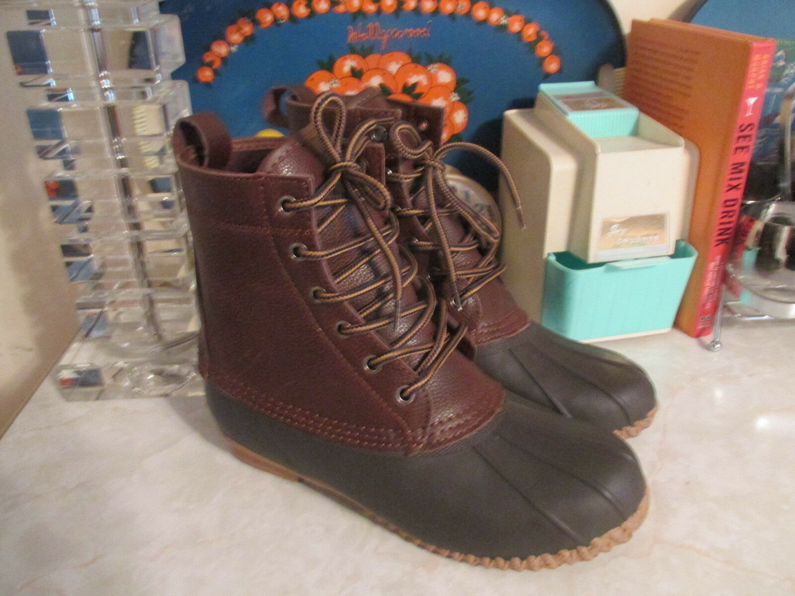 American Eagle Outfitters Duck Boots Rain Boots Men's Size 7 Pebbled leather