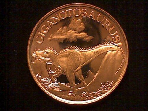 1 oz Copper Round GIGANOTOSAURUS Dinosaur   #69