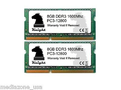 16GB KIT DDR3 1600 MHZ PC3 12800 (2X8GB) SODIMM LAPTOP MEMORY