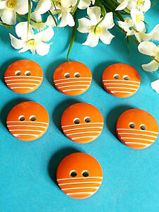 1064-Stunning-Buttons-034-Beard-with-Dad-034-Orange-Carrot-Lot-7-Buttons-Ep-1950