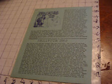 vintage Original SF Zine: LOCUS #42 nov 21, 1969--Charlie & Dena Brown--10 pgs