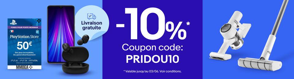 Code PRIDOU10 - Nous COUPONS les prix !