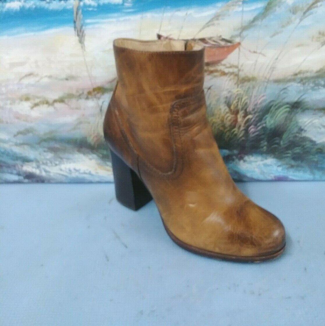 FRYE WOMES WOMES WOMES Western Ankle ZIPER TAN Boot Storlek 8.5 M 3476641  bästa kvalitet
