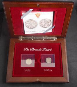 1268-England-Henry-III-034-Brussels-Hoard-034-Long-Cross-Pennies-Set-w-Box-amp-COA