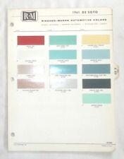 Item 2 1961 Desoto R M Color Paint Chip Chart All Models Original Mopar