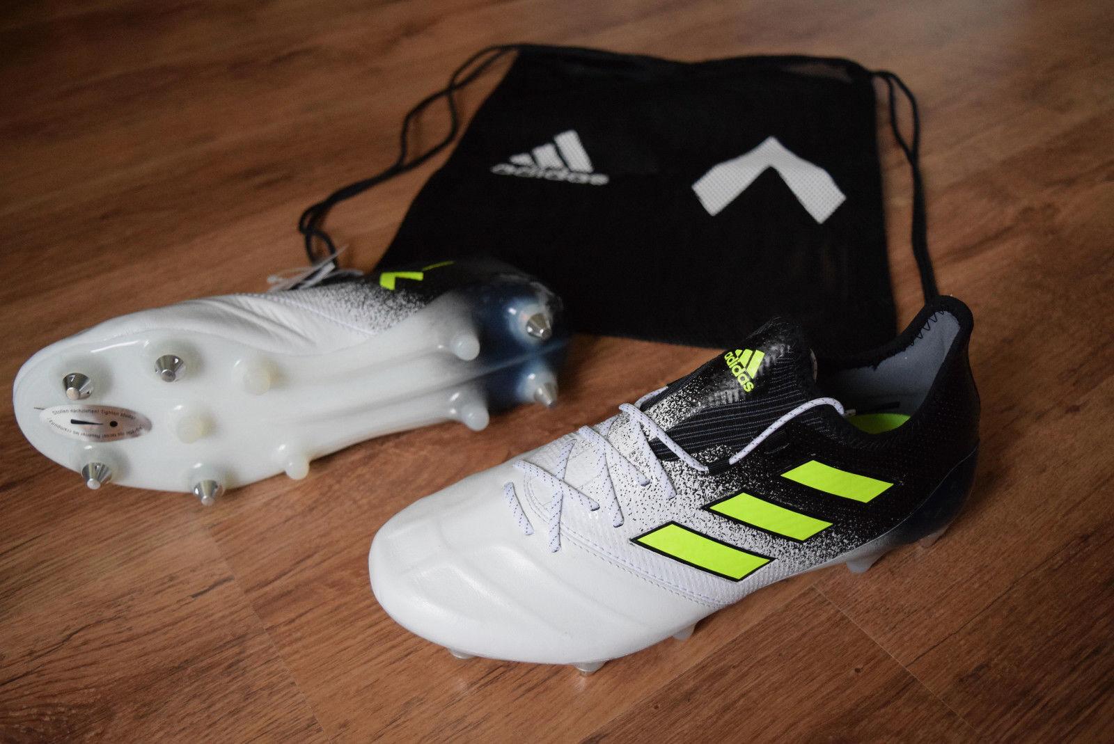 Adidas Ace 17.1 Sg pelle 41 42 Morbido Ground S77053 Scarpe da Calcio Prossoator