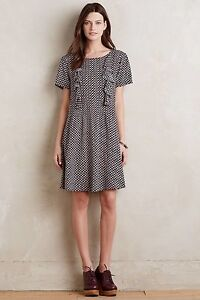 0affde809244 NEW Anthropologie Tylho Women's Black Ruffled Tunic Dress Size Small ...