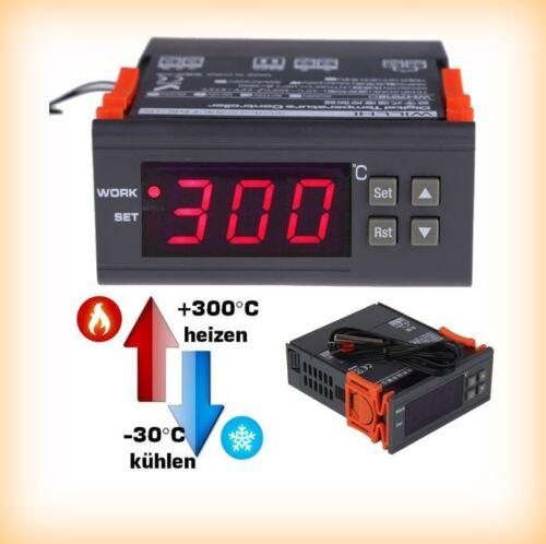 300°C Digital Temperaturregler 30° ~ 1m Sensor NTC 100K LED Thermostat 230V