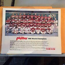 1980 PHILADELPHIA PHILLIES World CHAMPIONS ORIGINAL TEAM PHOTO