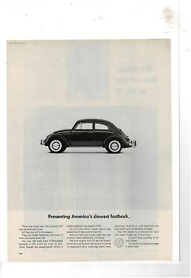 1969 VW Volkswagen Fastback Squareback Classic Vintage Advertisement Ad H78