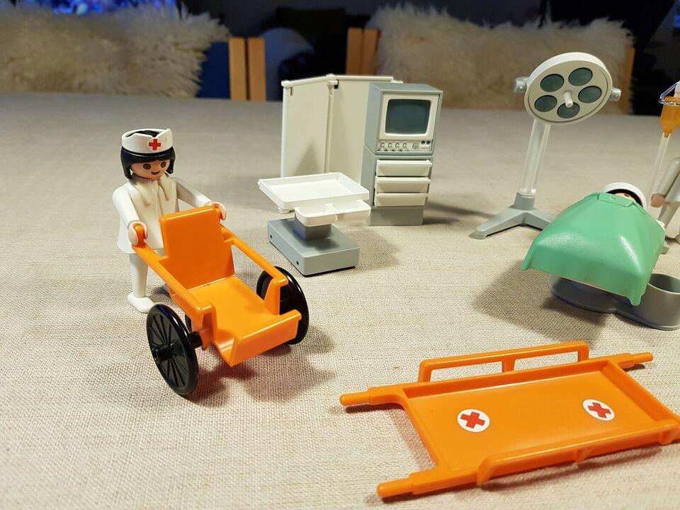 Playmobil, Playmobil Hospital div figur og tilbehør.