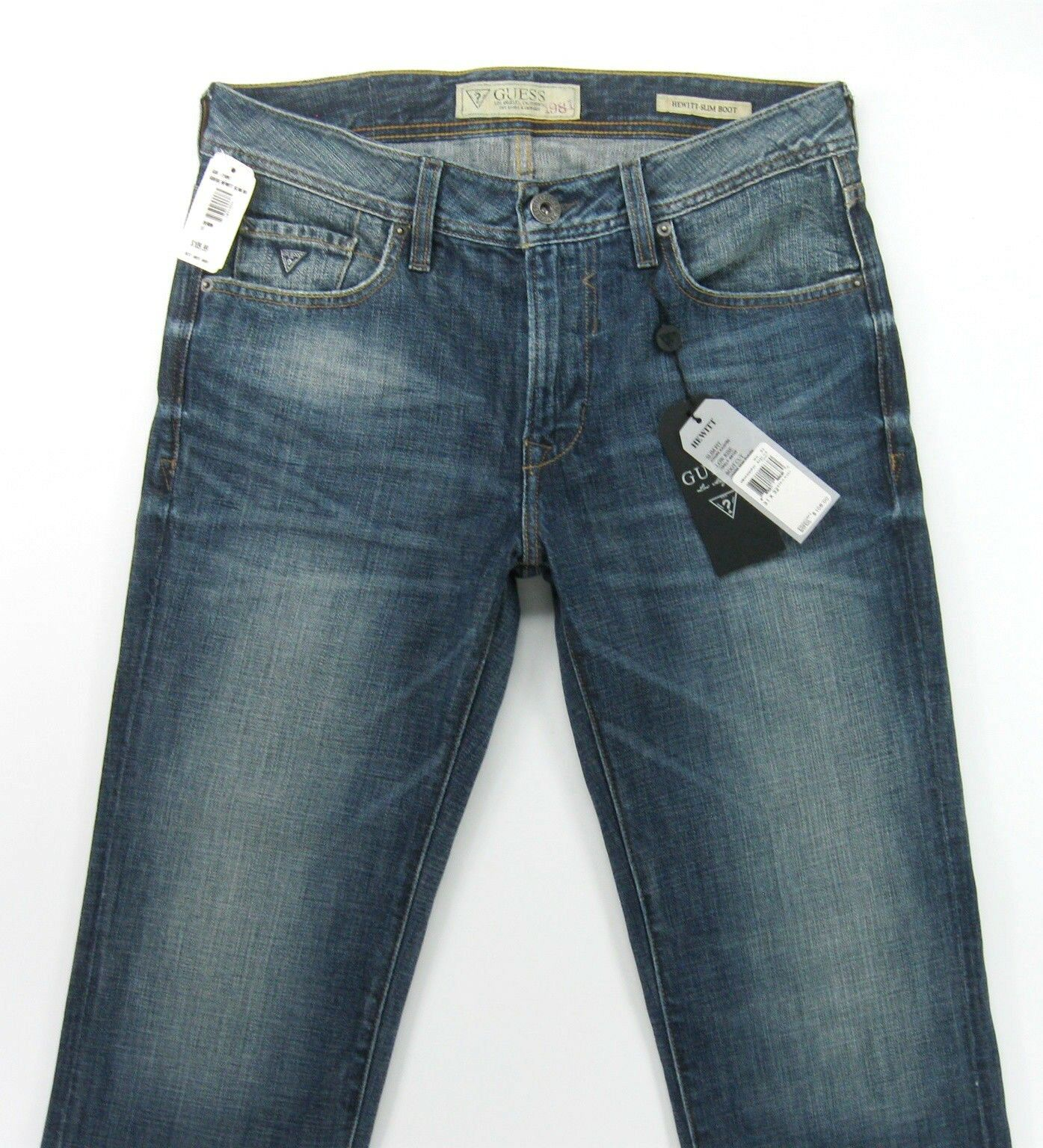 NEW - GUESS HEWITT Slim Bootcut  in Basin Wash- size 31   actual  inseam 33