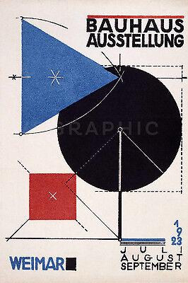 Bauhaus Ausstellung 1923 Weimer Art Exhibition Poster Giclee Canvas Print 20x30