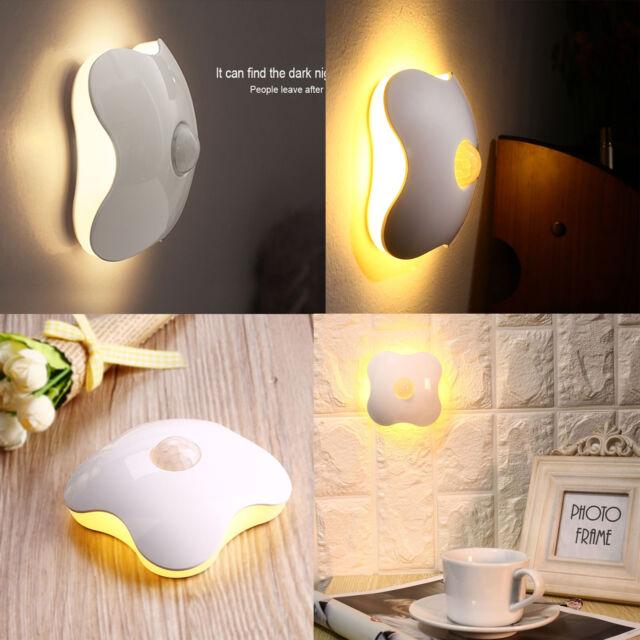 CUERPO HUMANO sensor movimiento LED Lámpara Mesilla Lámpara de pared RECIBIDOR