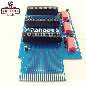 3-SLOT-CARTRIDGE-PORT-EXPANDER-FOR-COMMODORE-64-128-BRAND-NEW