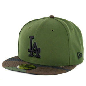 a354e529783 New Era 5950 Los Angeles Dodgers Fitted Hat (Rifle Green Woodland ...