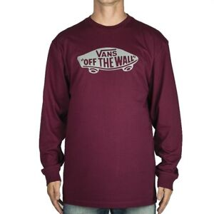 4c2677c7a24f Image is loading VANS-OTW-LONG-SLEEVE-T-SHIRT-BURGUNDY-FROST-